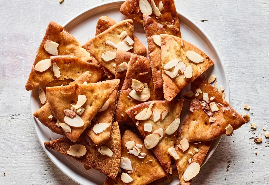 Honey Pita Chips recipe with Kitchen Toke Honey