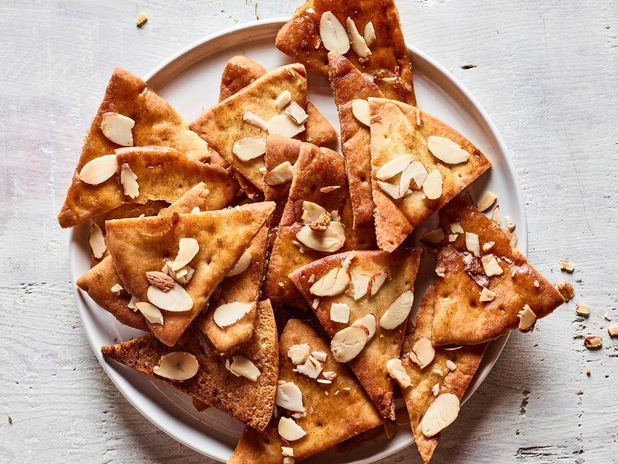 Brown Sugar and Honey Pita Chips with Almonds